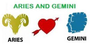 Aries and Gemini