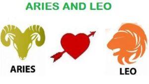 Aries and Leo
